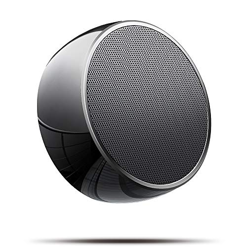 Portable Bluetooth Speaker,Wireless Mini Office Speaker for Outdoors,Stainless Steel Speaker with Bass and HD Sound,Built-in Mic,Car Handsfree Call, AUX and TF Card Slot for iPhone,iPad,Tablet - black