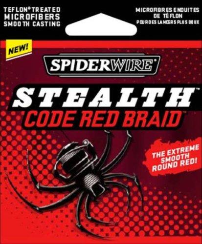Spiderwire Stealth Braid 125-Yard Spool (Code Red, Pound/Diameter (Braid 125 Yard Spool)