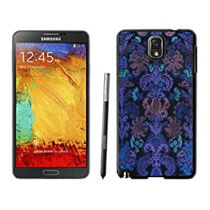 Nice Samsung Galaxy Note 3 Case Colorful Damask Vintage Design Black Cell Phone Cover Accessories