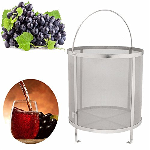 Funnytoday365 Stainless Steel Beer Wine House Home Brew Filter Basket Strainer Hip Spider Cylinder Barware Bar Tools