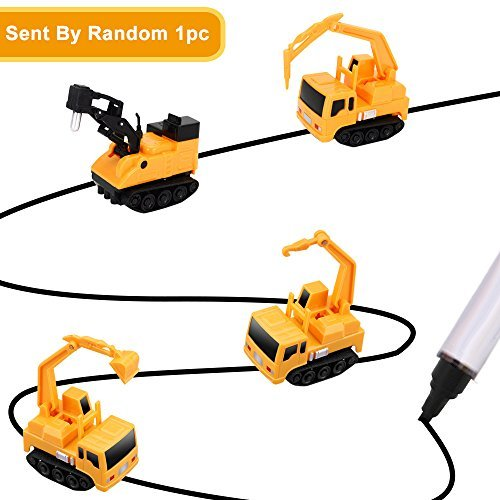 YoCosii Inductive Truck Toy Follow Drawn Black Line Inductive Engineering Vehicle Inductive Toy for Kids 1pc (Sent by Random)