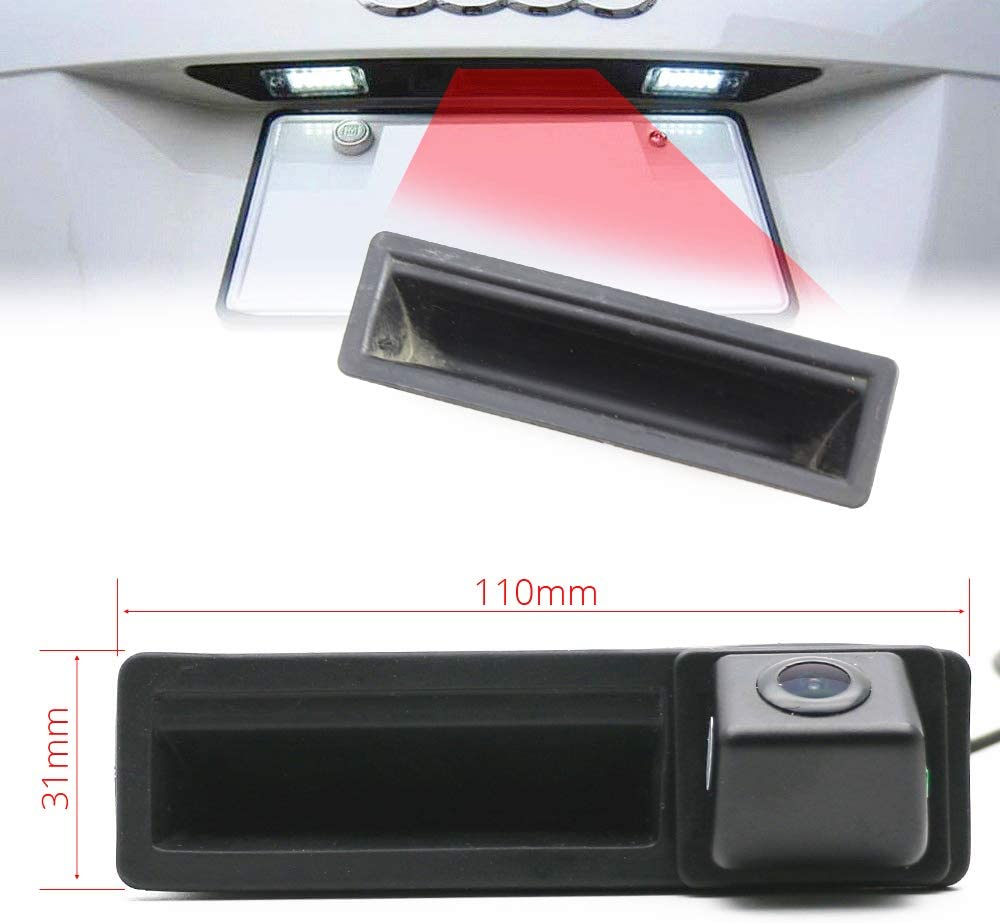 Waterproof Rear-View License Plate Car Rear Backup Parking Camera for Audi A3 A4 B7 A6L 4F C6 S5 Q7 HD Backup Camera for Car