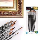 muxiao Brush Pen Painting Brush 9PCS/Set Wood