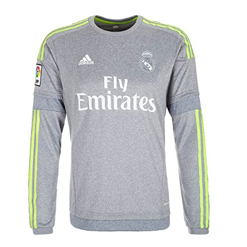 - adidas Real Madrid Away Soccer Jersey Long Sleeve 2015 (XL) Grey