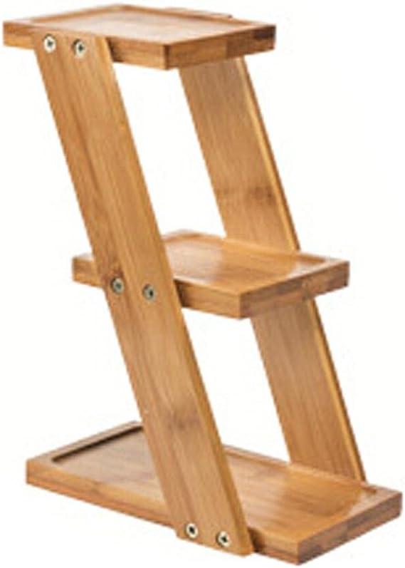 Futurelast - Soporte de escritorio para flores, multicapa, madera maciza, con ventosa, estante expositor, escalera para jardín al aire libre para salón o balcón: Amazon.es: Bricolaje y herramientas