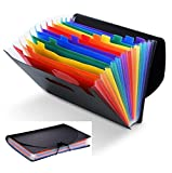 Accordian File Organizer 12 Pockets Legal Size with Tabs for Office, School Expanding Files Folder A4