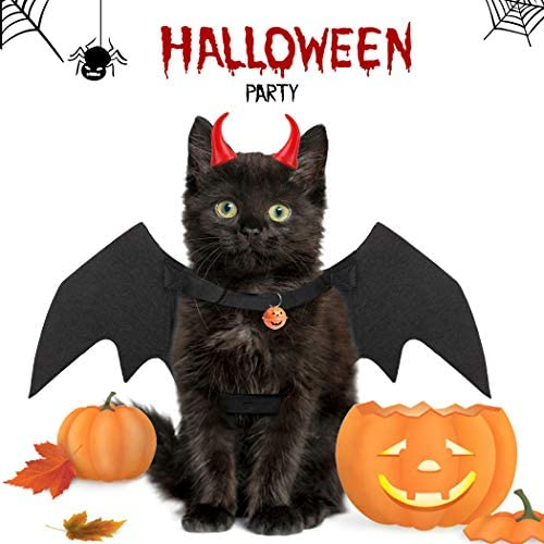 Legendog Cat Costume Halloween Bat Wings Pet Costumes Pet Apparel for Small Dogs and Cats (Bat Wings) 25