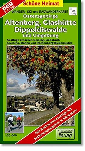 Doktor Barthel Wander- und Radwanderkarten, Osterzgebirge, Altenberg und Umgebung (Schöne Heimat)