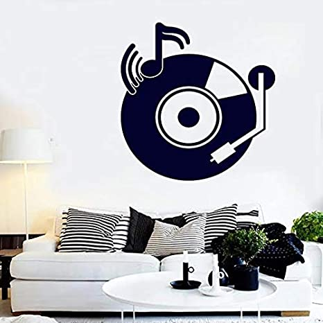 Etiqueta de la pared del disco retro Tocadiscos vintage ...