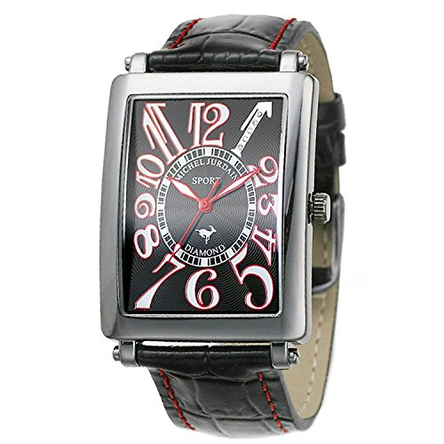 michel Jurdain watch sports diamond Leather All Black Men's SG3000-2 Men's by michel Jurdain (Michel Jordan)