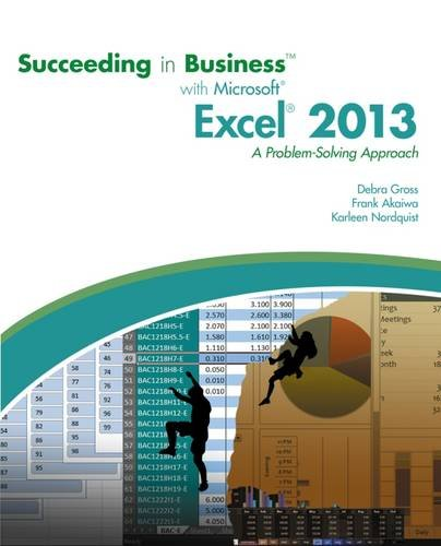 Succeeding In Bus.W/Ms.Off.Excel 2013