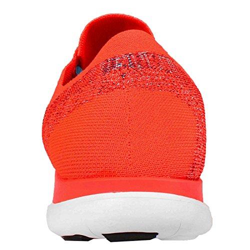 Nike Free 4.0 Flyknit - Zapatillas para hombre Hyper Orange/Black-Brave Blue