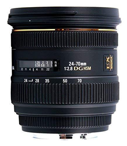 Sigma 24-70mm f/2.8 IF EX DG HSM AF Standard Zoom Lens for Canon Digital SLR Cameras - International Version (No Warranty)