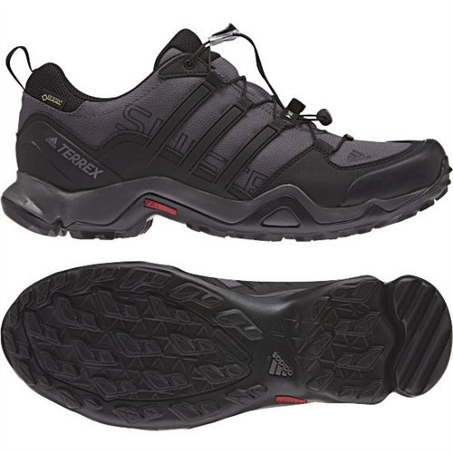 adidas outdoor Men's Terrex Swift R GTX Dark Grey/Black/Granite Hiking Shoes - 10 D(M) US