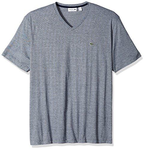 Lacoste Men's Fine Stripe Short Sleeve T-Shirt, TH6810, Navy Blue/White, Medium by Lacoste (Image #1)