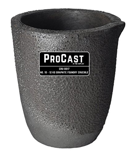 #10 - 12 Kg ProCast Foundry Clay Graphite Crucible Furnac...