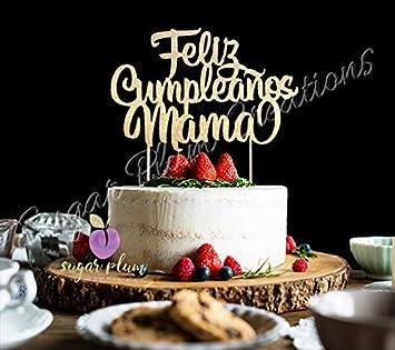 Feliz Cumpleaños - Decoración para tarta de mamá: Amazon.es ...