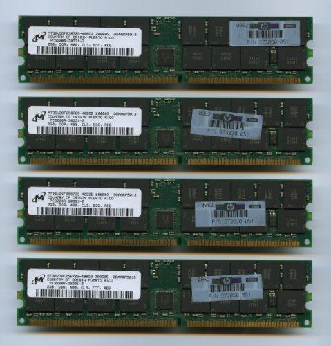 4x Micron MT36VDDF25672G-40BD2 DDR-400 PC-3200 2GB ECC REG CL3 (FOR SERVER ONLY) (Ddr400 Pc 3200 Memory Desktop)