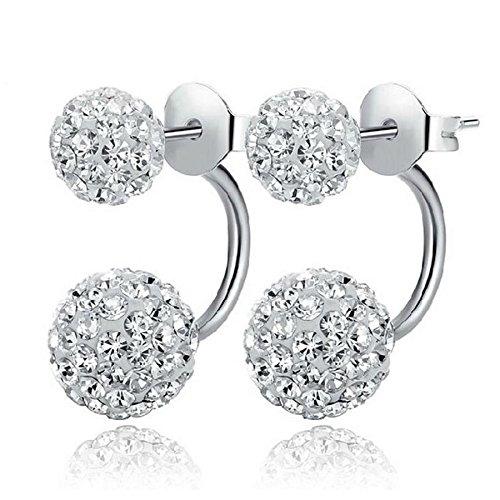 Element Princess Earrings (piyada Silver Shambhala Disco Ball Swarovski Element Crystal Stud Earrings Gift)