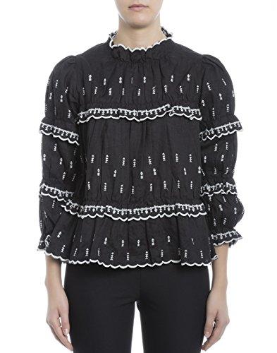 isabel-marant-womens-ht092917p024e01bk-black-linen-blouse