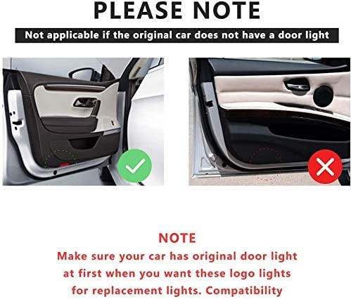 Altima Door Lights Logo Led Ghost Shadow HD Welcome Courtesey Step Light Compatible with Nissan Armada Maxima Titan Quest Easy to Install