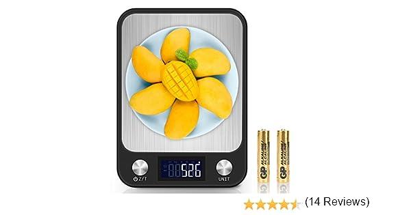 Báscula Cocina, Balanza Electrónica de Cocina con Plataforma de Gran, 5kg/11lbs, Retroiluminación Pantalla LCD: Amazon.es: Bricolaje y herramientas