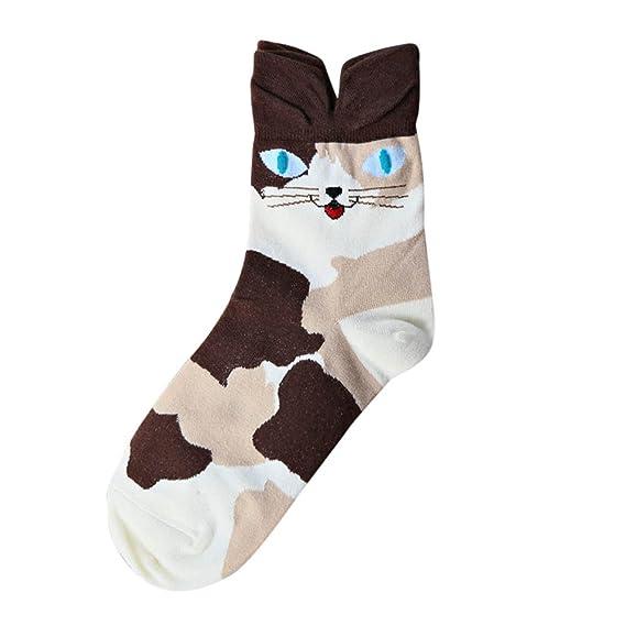 2019 Despeje Calcetines Mujer Lindo Encantador De Dibujos Animados De Animales Del Zoológico Calcetines Para Damas Niñas De Algodón Cálido Suave Sox: ...