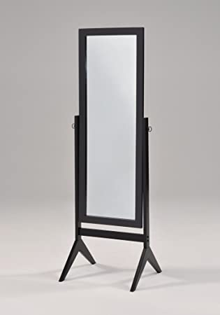 black finish wooden bedroom free standing floor mirror white full length cheval jewelry armoire with