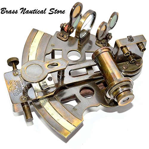 BRASS WORKING SEXTANT NAUTICAL ANTIQUE BRASS NAVIGATION MARINE FUNCTIONAL POCKET BY HUMAIRA (Pocket Sextant)