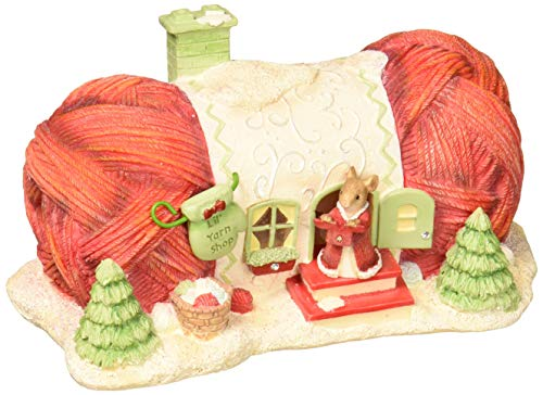 Enesco Heart of Christmas Lil Yarn Shop Figurine, 2.76 , Multicolor