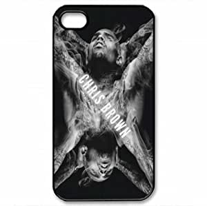 Iphone4/4S cover Chris Brown Hard Silicone Case hjbrhga1544