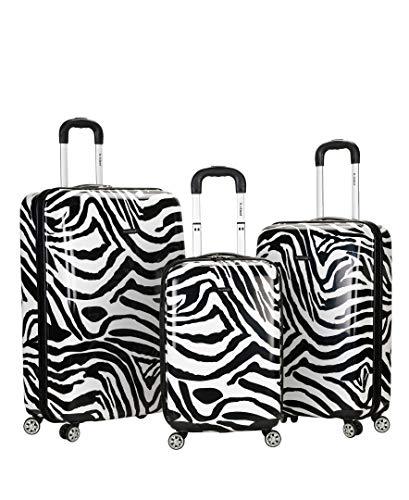 Rockland Luggage 3 Piece Upright Set, Zebra, Medium