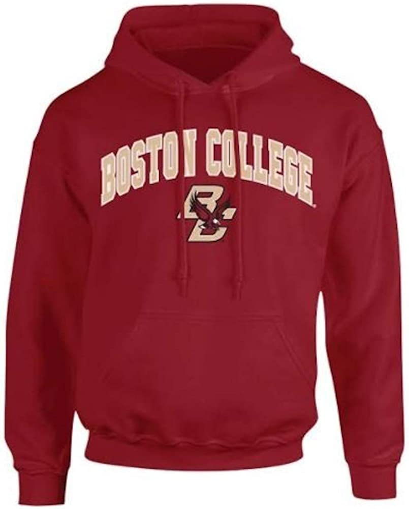 XX-Large Elite Fan Shop Boston College Eagles Hooded Sweatshirt Arch Maroon