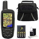 Garmin GPSMAP 64sc Handheld GPS 010-01199-30 w/ Compact Deluxe Gadget Bag Bundle