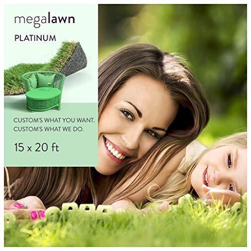 MEGAGRASS 15x20Ft LawnPlatinum Artificial Grass