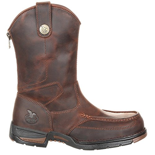 Dark Boot Rubber Georgia Athens Moc Dark Brown GB00226 Toe Work Mens Brown xOwdp60dq