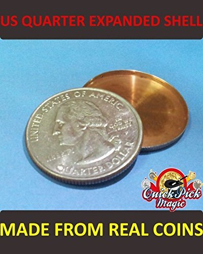 QUICK PICK MAGIC US Quarter EXPANDED Coin Shell / Made from Real Coins! Premium ()