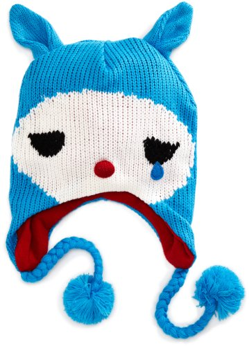 Felt Shark Hat (Bioworld Big Girls'  Crybaby Laplander Hat, Blue, One Size)