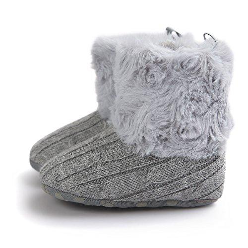 Shoes De Soft 0 Para Gris Bebé Botas Zapatos Crib 18 Pequeños Niños Auxma Meses Snowboots qnRvgUExwU