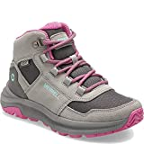 Merrell Girls' Ontario 85 WTRPF Hiking Boot, Grey/Pink, 04.0 M US Big Kid
