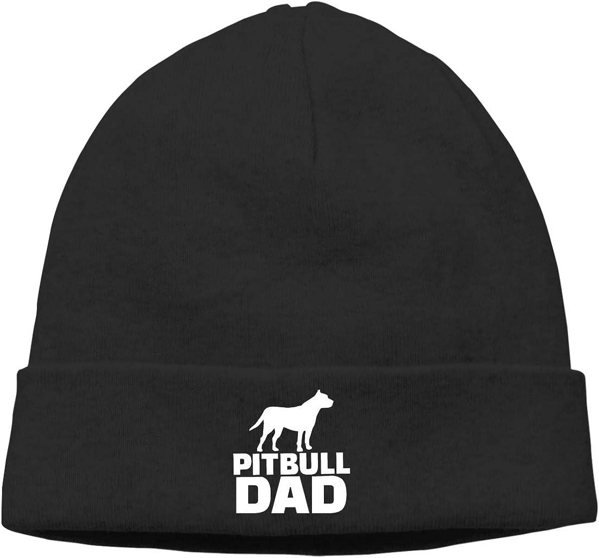 Pitbull DAD Beanie Hats Cap Men Winter Summer Warm /& Stylish Skull Cap Knit Cuff Beanie