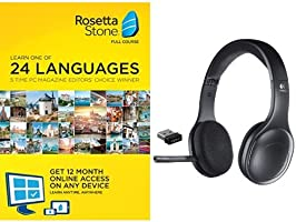 Save 47% on Rosetta Stone 12 Month Subscription with Logitech Bluetooth Wireless Headphones