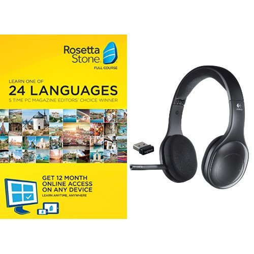 Rosetta Stone 12 Month Subscription with Logitech H800 Bluetooth
