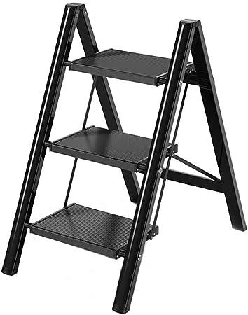 IAIZI Escalera Plegable Plegable portátil de Aluminio Paso de heces Las escaleras de Mano del hogar