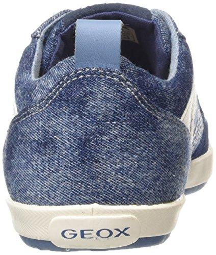 Geox Kiwi Boy I - Zapatos para niños Azul (Light Jeans/Dark Sky)