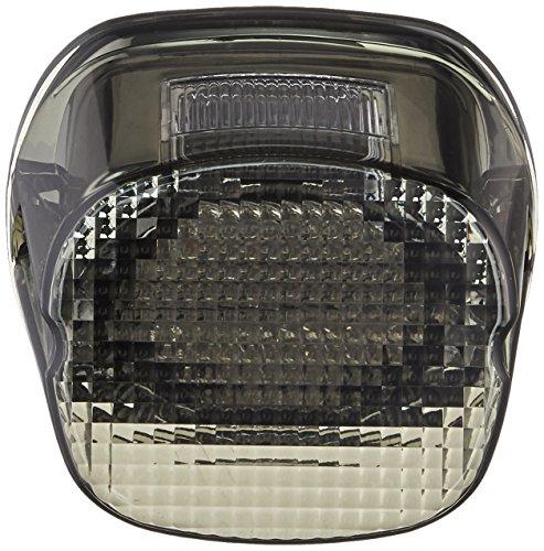 Custom Dynamics GEN2-LDW-S License Plate Light (Smoke LED Laydown Taillight With for 1999-2016 Harley-Davidson Models)