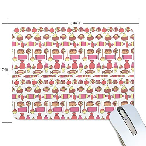 Candy Bars Bags Cup Cake Red Extended Gaming Mouse Pad Large Non-Slip Water-Resistant Rubber Base Cloth Computer Mouse Mat, Premium-Textured Mousepad for Laptop, Computer & PC ()