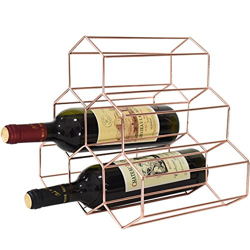 KKONION Nordic Creative Geometric Wine Rack Metal Simple Household Grape Liquor Display Restaurant, Living Room, Bar Cabinet