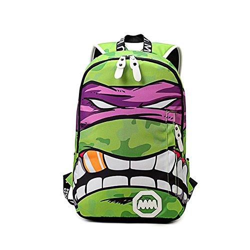 YOURNELO Boy's Funny Colorful Teenage Mutant Ninja Turtles Rucksack School Backpack Bookbag -
