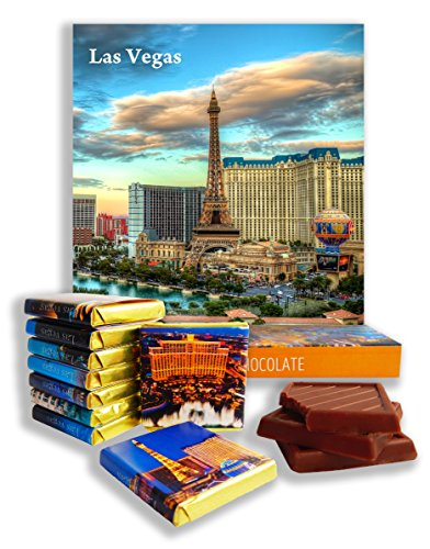 Bellagio Gift Set - DA CHOCOLATE Candy Souvenir LAS VEGAS Chocolate Gift Set 5x5in 1 box (Day)